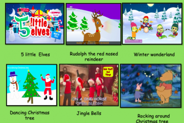 Christmas singing interactive song choice board autism spectrum teacher